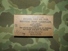 First Aid Dressing - INDIVIDUAL TROOP - 1962 - Verbandpäckchen, US Army USMC Vietnam