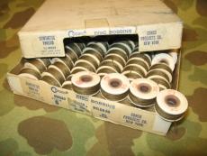 4 Rollen olives Nähgarn - orig. US Army USMC Vietnam