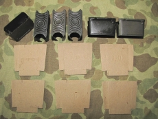 6x M1 Garand Clip + 6x Cardboard - Ladestreifen .30-06 - US Army USMC WWII Korea