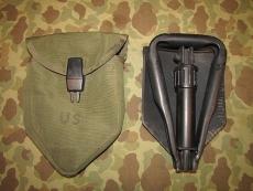 M-1967 Entreching Tool + Cover, Klappspaten + Tasche US Army USMC Vietnam