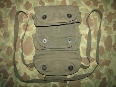 Grenade Carrier, 3 Pocket - Handgranatentasche - 1951 - US USMC Vietnam Korea