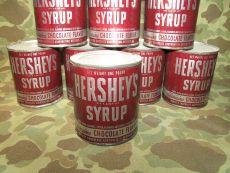 HERSHEYS Chocolate Syrup Ration Tin - US Army WWII WK2 oder Berlin Luftbrücke CARE Paket