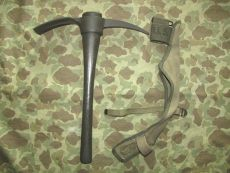 M-1910 Entrenching Tool / Pick Mattock + Carrier - 1944  - US Army USMC WWII WK2