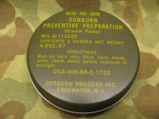 Sonnencreme - 1967/68 - Sunburn Preventive, US Army USMC Vietnam