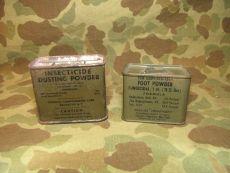 Foot Powder + Insecticide Dusting Powder - US Army USMC Vietnam