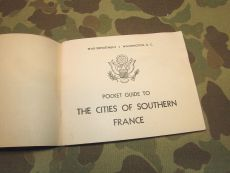 Pocket Guide to CITIES OF SOUTHERN FRANCE - 1944 - ETO - US Army WK2 WWII