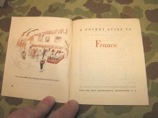 Pocket Guide to FRANCE - 1944 - ETO - US Army WK2 WWII