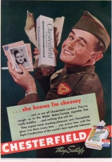 Cigarette Pack Wrap - CHESTERFIELD - US WWII