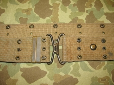 M-1912 Pistol Belt - mit SABRE RING - US Army USMC AEF WWI - WWII