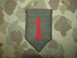 1st Infantry Division Patch - BEVO made - US Occupation