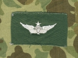 Senior Aircrew Member - weiß auf OD - US Army Vietnam