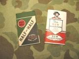 2x Zigarettenpapier - Cigarette Papers B&W + HALF & HALF - US Army USMC WWII WK2