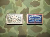 2x Match Box - Matches - Streichhölzer -  US Army Airforce WWII WK2 AAF CBI