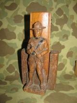 Shoe Brush Holder + Brush - US WK2 WWII WWI Interwars