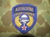 Troop Carrier AIRBORNE Patch - BRITISH MADE - US WWII WK2
