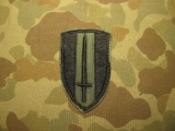 USARV Patch - Subdued on Twill - US Army Vietnam