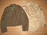 M-1950 Ike Jacket 40R + Service Shirt - 7th Army - US Occupation