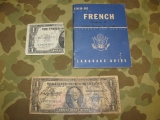 FRENCH Language Guide + SHORT SNORTER - US Army WWII WK2