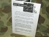 Taschenkarte - WHY WE SALUTE - Training Aid GTA 21-2-6 - US Army Vietnam