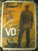VD Warning Poster - Anti Venereal Disease Campaign - US Army post WWII WK2, Occupation