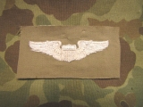 Pilot Wings auf khaki Cotton -  US Army Air Forces AAF WWII WK2