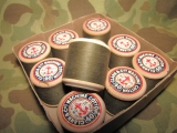 1 Rolle olives Nähgarn / Sewing Thread - US Army USMC WWII WK2