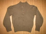 High Neck Wool Sweater, 5 Button Fly - SMALL - US Army USMC WK2 WWII