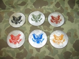 Coaster Set - GREAT SEAL - Mother of Pearl - US Army WK2 WWII