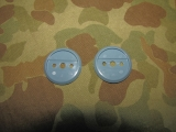 Blue Infantry Branch Collar Discs Back (Paar) - US Army Vietnam REFORGER