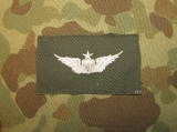 Army Senior Aviator Badge - weiß auf OD - US Army Vietnam Aviation