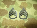 Staff Sergeant Ranks E-6 - Pin On - Dienstgrad für Kragen - US Army Vietnam REFORGER