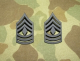 First Sergeant Ranks E-8 - Pin On - Dienstgrad für Kragen - US Army Vietnam REFORGER