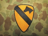 1st Cavalry Division Patch, Abzeichen, Insignia, Merrowed Edge, US Army Vietnam REFORGER