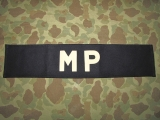 MP Brassard - Armbinde - US Army Military Police AAF WWII WK2