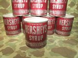 HERSHEYS Chocolate Syrup Ration Tin - US Army WWII WK2 oder Berlin Luftbrücke CARE Paket