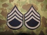 Staff Sergeant Ranks / Rangabzeichen - original - US Army WWII WK2